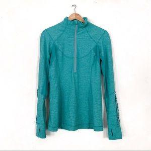 Lululemon Run Dash Pullover Jacket Green Teal 10